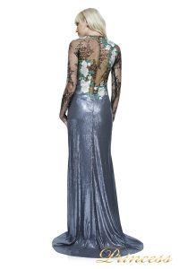 Вечернее платье AAX17667L PEWTER CL18AAX SILVER. Цвет серебро. Вид 2