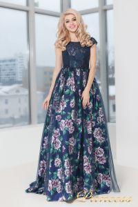Вечернее платье 5540. Цвет цветочное. Вид 2