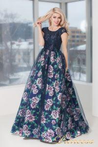 Вечернее платье 5540. Цвет цветочное. Вид 1