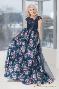 Вечернее платье 5540. Цвет цветочное. Вид 3