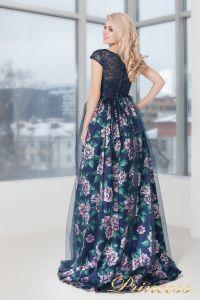 Вечернее платье 5540. Цвет цветочное. Вид 4