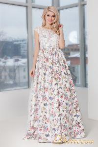 Вечернее платье 5550. Цвет цветочное. Вид 2