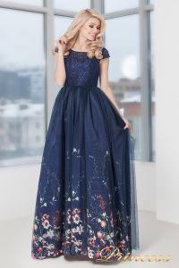 Вечернее платье 5560. Цвет синий. Вид 2