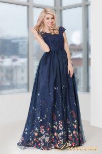 Вечернее платье 5560. Цвет синий. Вид 1