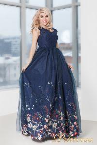 Вечернее платье 5560. Цвет синий. Вид 3