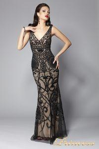 Вечернее платье 5673. Цвет чёрный. Вид 2