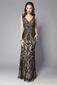 Вечернее платье 5673. Цвет чёрный. Вид 3