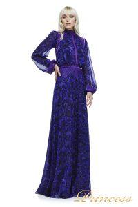 Вечернее платье AZV17610L VIOLET BLACK. Цвет фиолетовый. Вид 1