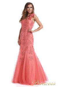 Вечернее платье 6010C. Цвет цветочное. Вид 2
