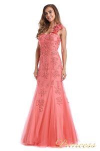 Вечернее платье 6010C. Цвет цветочное. Вид 3
