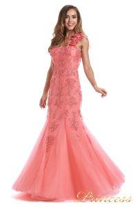 Вечернее платье 6010C. Цвет цветочное. Вид 1