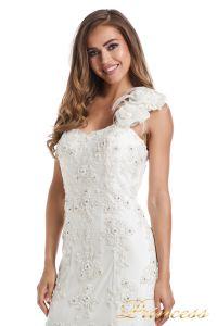 Свадебное платье 6010W. Цвет белый. Вид 2