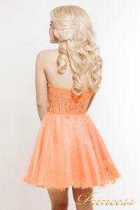 Коктейльное платье 6013. Цвет оранжевый. Вид 2
