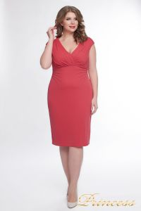 Вечернее платье 6102_coral. Цвет персиковый. Вид 1