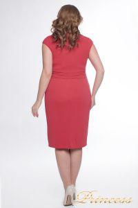 Вечернее платье 6102_coral. Цвет персиковый. Вид 3