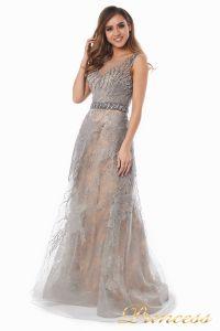 вечернее платье 6146. Цвет стальной. Вид 3