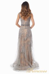 вечернее платье 6146. Цвет стальной. Вид 5