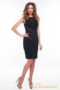 Коктейльное платье 6284_black. Цвет чёрный. Вид 1