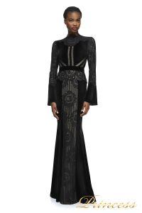 Вечернее платье AZE17673L BK ND. Цвет чёрный. Вид 1