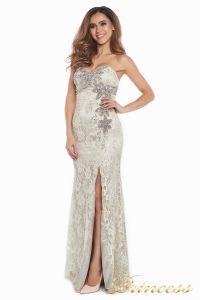 Вечернее платье 702. Цвет серый. Вид 1