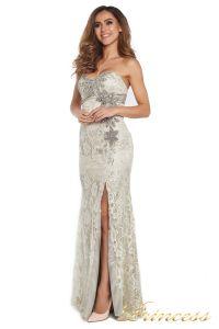 Вечернее платье 702. Цвет серый. Вид 2