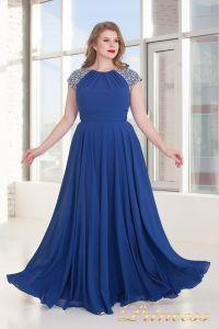 Вечернее платье 709 Royal. Цвет электрик . Вид 3