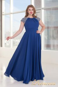Вечернее платье 709 Royal. Цвет электрик . Вид 4