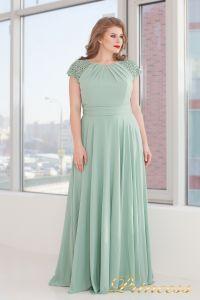 Вечернее платье 709 G. Цвет салатовый. Вид 1
