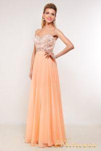 Вечернее платье 7095. Цвет персиковый. Вид 1