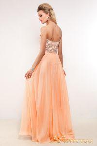 Вечернее платье 7095. Цвет персиковый. Вид 2