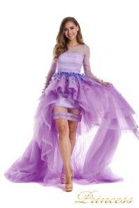 Вечернее платье 724456-F. Цвет цветочное. Вид 2