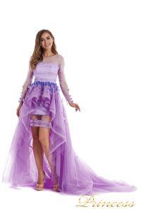 Вечернее платье 724456-F. Цвет цветочное. Вид 3