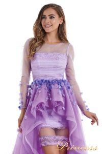 Вечернее платье 724456-F. Цвет цветочное. Вид 4