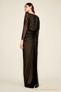 Вечернее платье 7318487 LXB CALICO RUCHED GOWN. Цвет чёрный. Вид 3