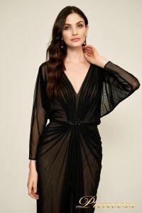 Вечернее платье 7318487 LXB CALICO RUCHED GOWN. Цвет чёрный. Вид 2