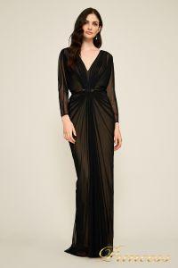 Вечернее платье 7318487 LXB CALICO RUCHED GOWN. Цвет чёрный. Вид 1