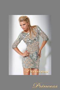 Коктейльное платье 7749. Цвет золото. Вид 3