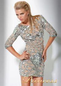 Коктейльное платье 7749. Цвет золото. Вид 1