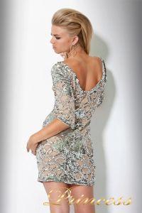 Коктейльное платье 7749. Цвет золото. Вид 2