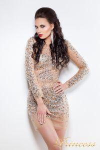 Коктейльное платье 7757B. Цвет золото. Вид 1