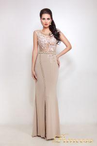 Вечернее платье 8033. Цвет пудра. Вид 2