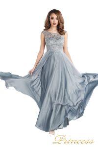 Вечернее платье 80824-171 gray. Цвет стальной. Вид 2