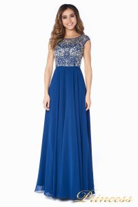 Вечернее платье  80824AN. Цвет синий. Вид 2