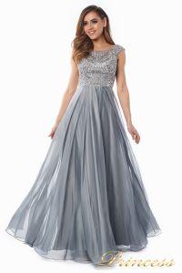 Вечернее платье 80824-171 gray. Цвет стальной. Вид 1