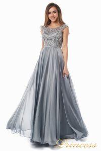 Вечернее платье 80824-171 gray. Цвет стальной. Вид 8