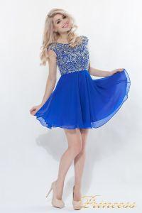 Вечернее платье 80824S - ROYAL. Цвет электрик . Вид 1