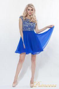 Вечернее платье 80824S - ROYAL. Цвет электрик . Вид 3