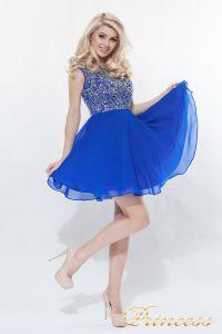 Вечернее платье 80824S - ROYAL. Цвет электрик . Вид 4