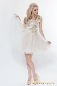 Платье на выпускной 8104. Цвет цветочное. Вид 1