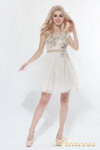 Платье на выпускной 8104. Цвет цветочное. Вид 2